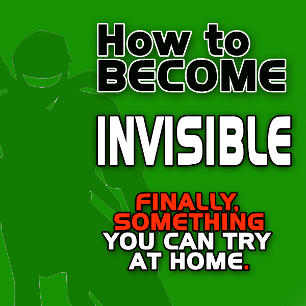 How to Become Invisible like a Ninja